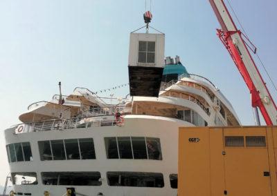 Φόρτωση γεννήτριας σε πλοίο | Γονίδης γεννήτριες, ενοικίασης ηλεκτροπαραγωγών ζευγών | Gonidis generators